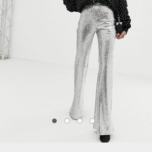 Sequin flare pant